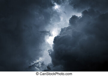 Storm Cloud Background - Dark and Dramatic Storm Clouds Area...
