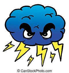 storm cloud cartoon illustration