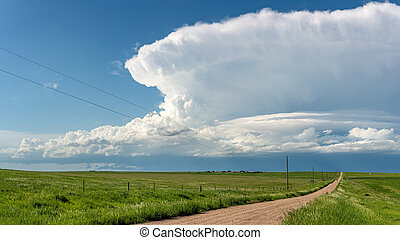 Storm Cloud Formation During Daytime