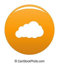 Storm cloud icon orange