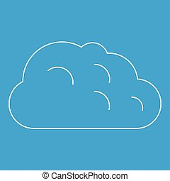 Storm Cloud Icon Outline Style