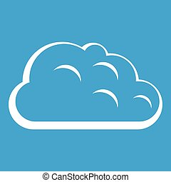 Storm cloud icon white