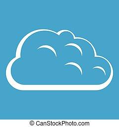 Storm cloud icon white