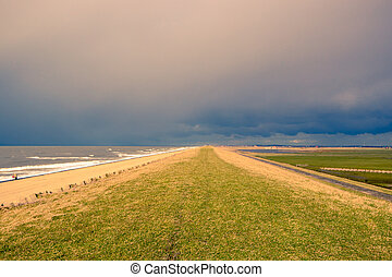 Storm Clouds above a dike
