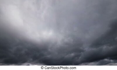 Storm Clouds are Moving in the Sky. Time Lapse. Beautiful...