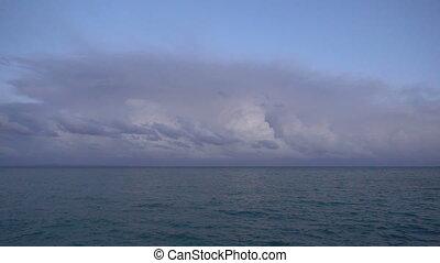 Storm clouds Lightning Strike