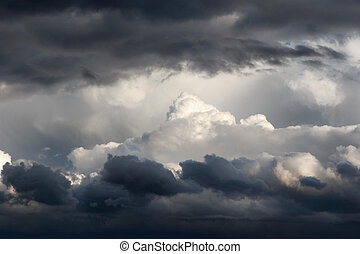 Storm Clouds - Multiple layers of ominous storm clouds
