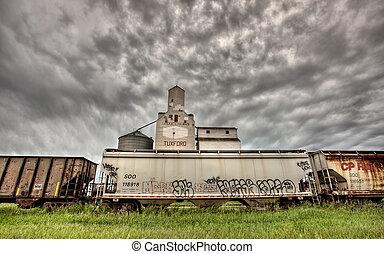 Storm Clouds over Grain Elevator