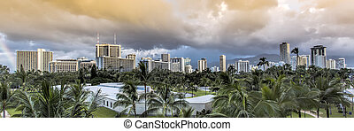 Storm Clouds over Honolulu
