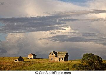 Storm clouds over Saskatchewan