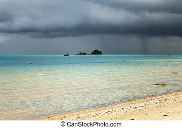 Storm clouds over the Andaman Sea. Koh Chang Island