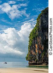 Storm clouds over the Andaman Sea, sea beautiful landscape