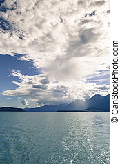 Storm clouds over the Lynn Canal