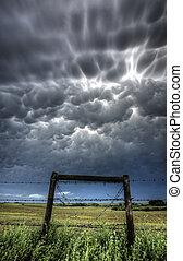 Storm Clouds Saskatchewan - mammatus Bubble Storm Clouds...