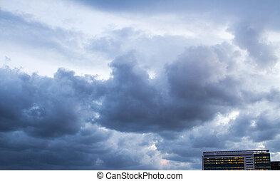 Storm clouds .