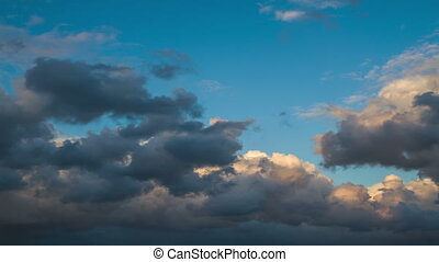 Storm clouds . - Storm clouds against the blue sky in the...