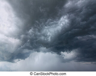 Storm Clouds - Storm clouds in the skies of central...