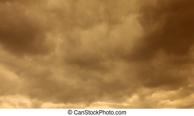 storm clouds swirling on the sky at night