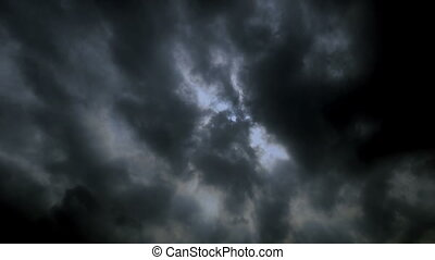 Storm clouds, time lapse