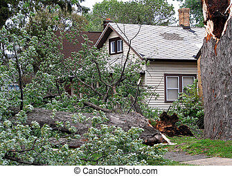storm damage - strong wind storm damage in Midwest...