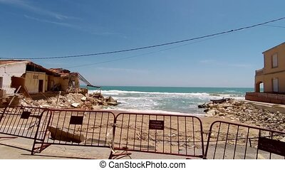 Storm Damaged Guardamar in Spain
