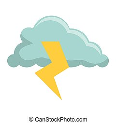 storm electric isolated icon