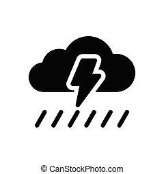 storm glyph flat icon