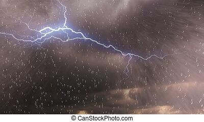 Storm, hard rain drops, Hurricane, typhoon, shower, storm, background