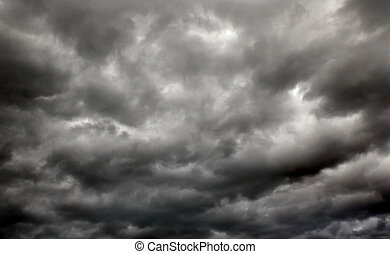 storm. horizontal - heavy gale black stormy clouds