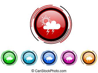 storm icon set