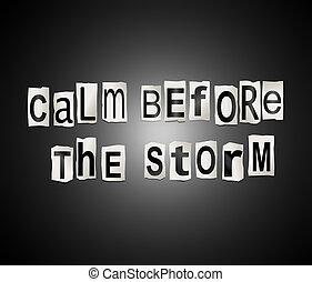 storm., kalm, voor