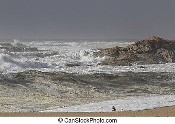 Storm on the beach