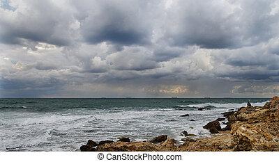 Storm on the coast.