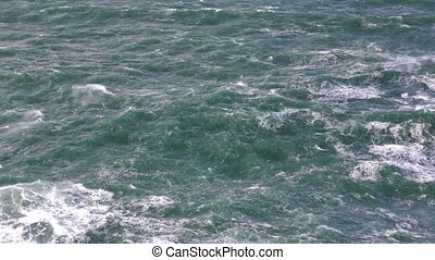 Storm on the sea seething water. Portugal.