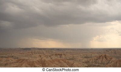 Storm Over Badlands National Park South Dakota Western Skies...