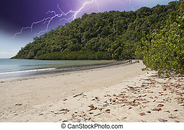 Storm over Cape Tribulation, Queensland