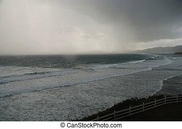 Storm over Caribbean Sea
