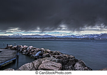 Storm over the Varese Lake