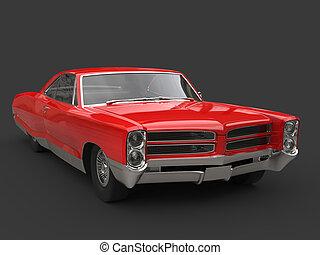 Storm red vintage car