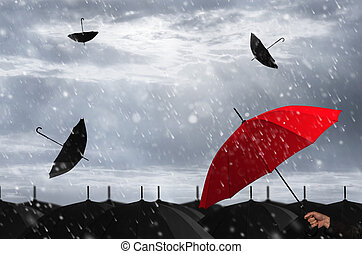 storm., rode paraplu