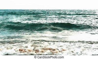 storm sea slow motion