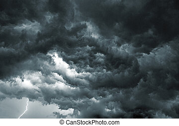 Storm Sky - Beautiful storm sky with clouds, apocalypse like
