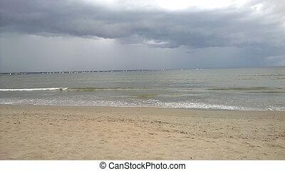 Storm sky on the beach