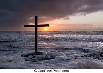 Storm Sunset Cross