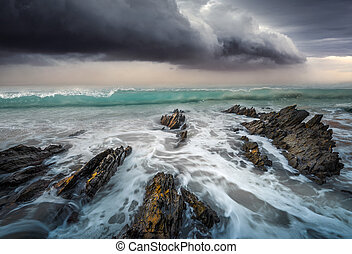 Storm Swell - Storm Clouds over ocean water