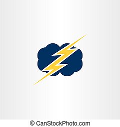 storm thunder cloud icon vector symbol