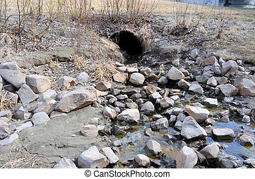 Storm Water Drain carrying Spring Runoff