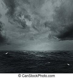 stormachtige oceaan, abstract, natuurlijke , achtergronden, voor, jouw, ontwerp