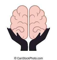 storming cerveau, isolé, icône