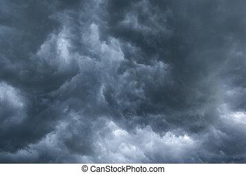 Stormy clouds. - Dark, stormy sky. aRGB.